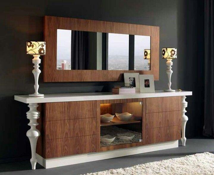 Credenzas Modernas En Espejo : Aparador credenzas moderno muebles y de comedor