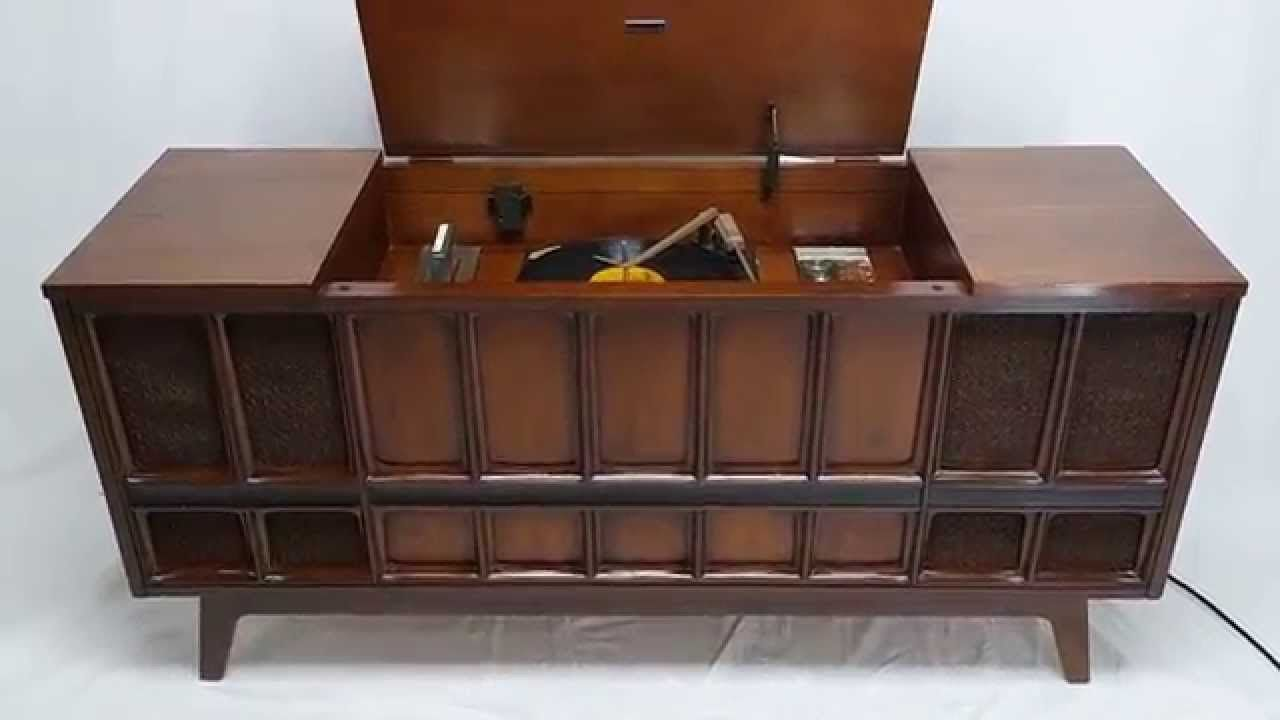 For Sale Mid Century Modern Zenith Stereo Record Player Console