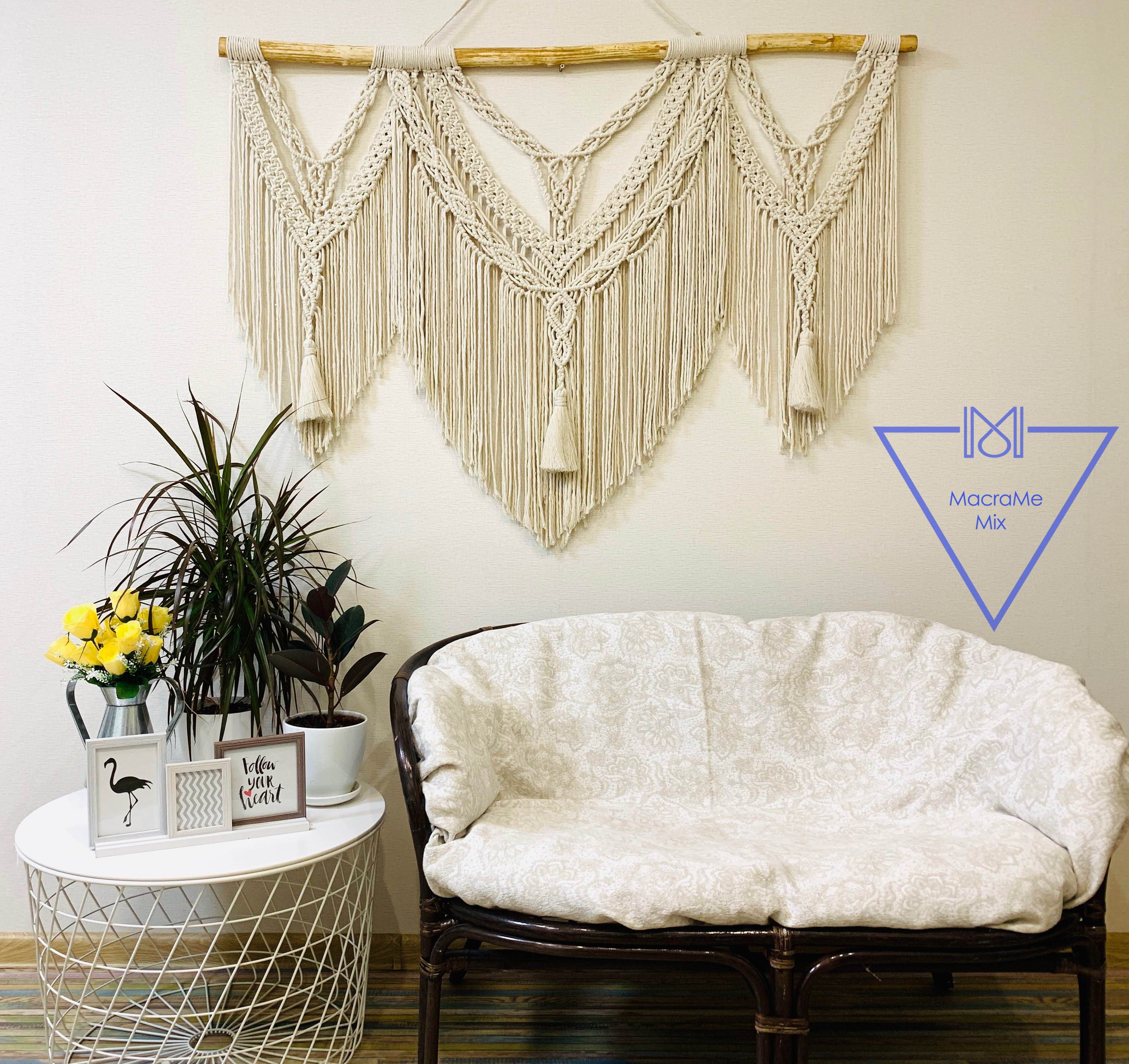 Above Couch Wall Decor Macrame Wall Hanging Extra Large