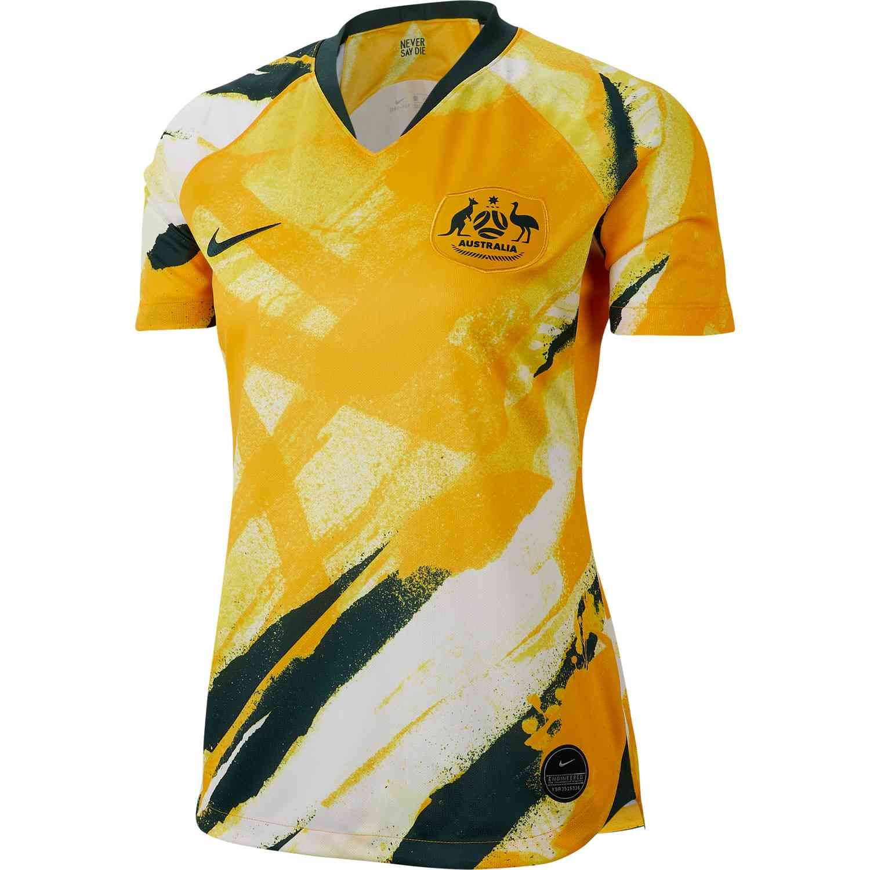 2019 Womens Nike Australia Home Jersey Soccerpro Soccer Shirts Wholesale Shirts Soccer Jersey