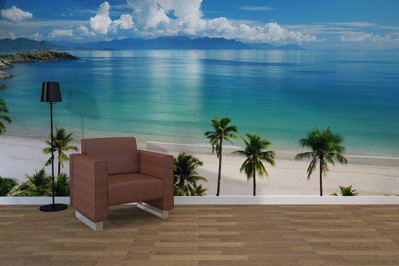 Tropical Beach Scene, Photo Wallpaper, Removable Wall ...