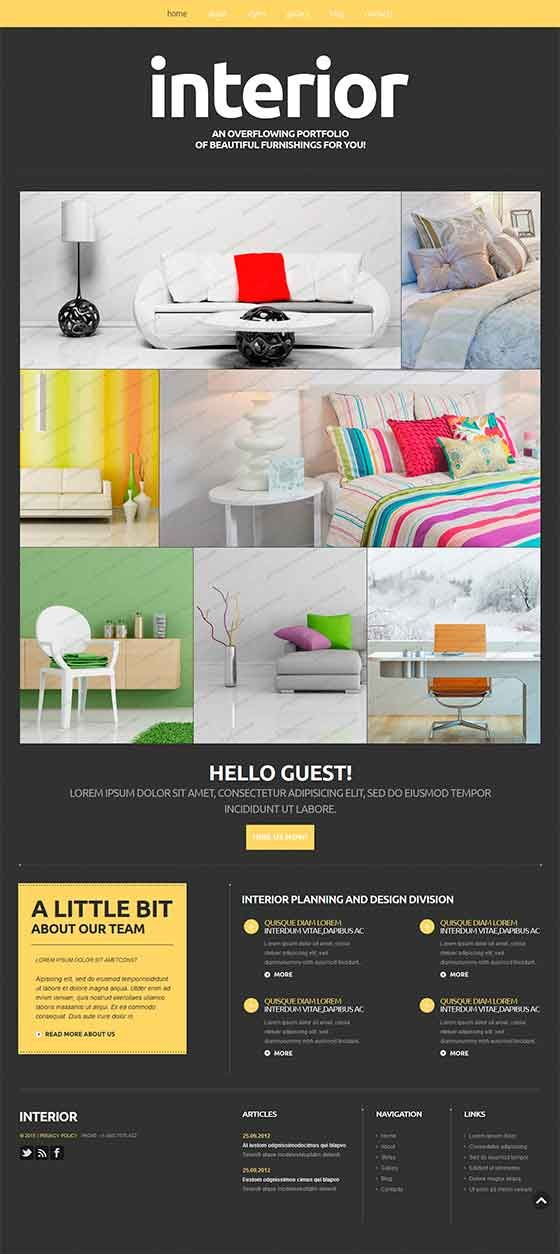 Interior Theme – Free Responsive Joomla Templates | CMS Joomla 2,5 ...