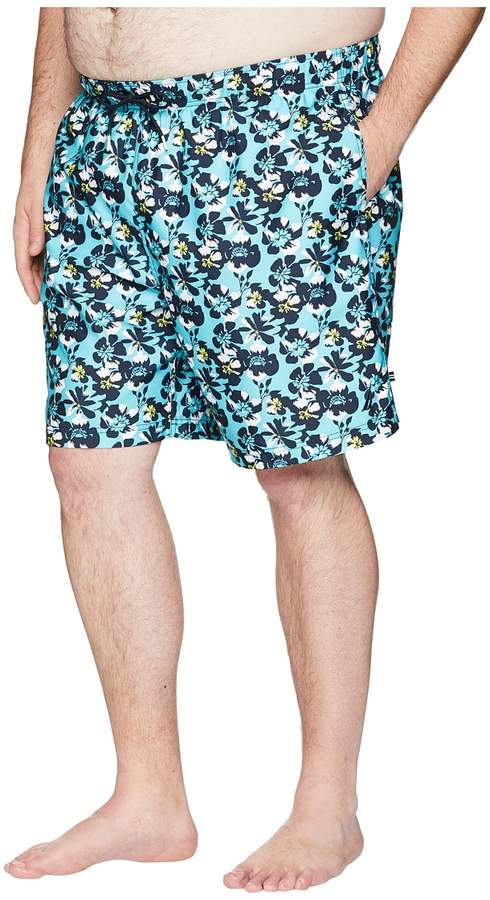 9727dd16f2 Nautica Big & Tall Big Tall Abstract Floral Print Swim Trunk Men's Swimwear  i#big #tall #ShopStyle #MyShopStyle click link to see more informationrt