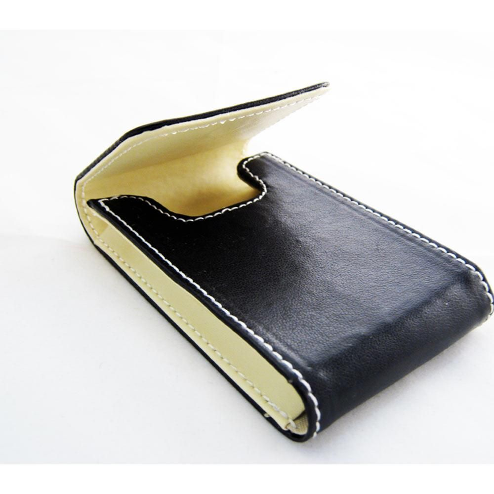 New Black Leather Business Card Holder ID Credit Case Wallet ...