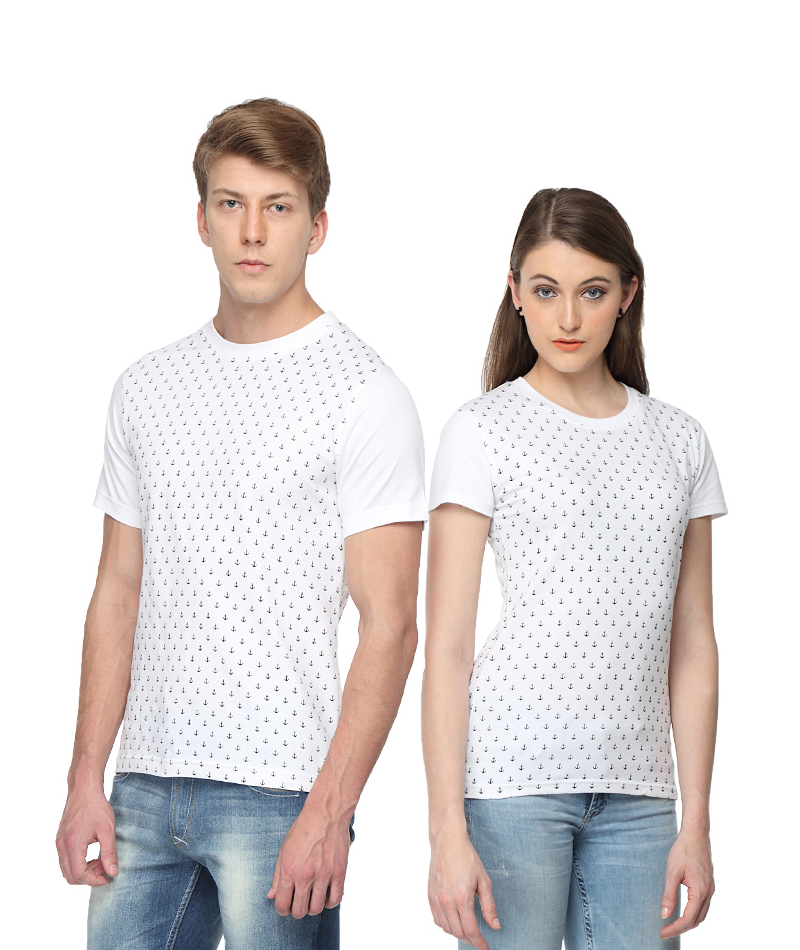 31446dee71ded Anchor Printed Matching Couple T-shirts from pepperclub India