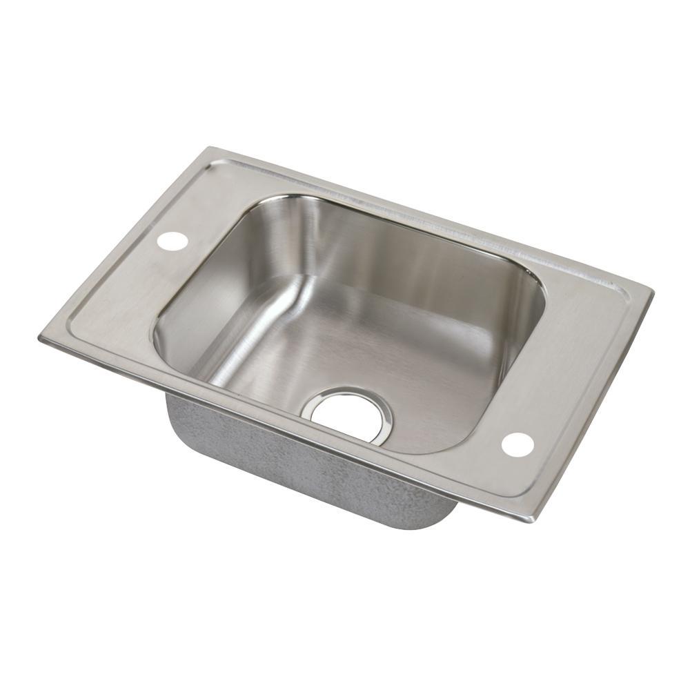 Elkay Lustertone Undermount Stainless Steel 14 In Single Bowl Ada