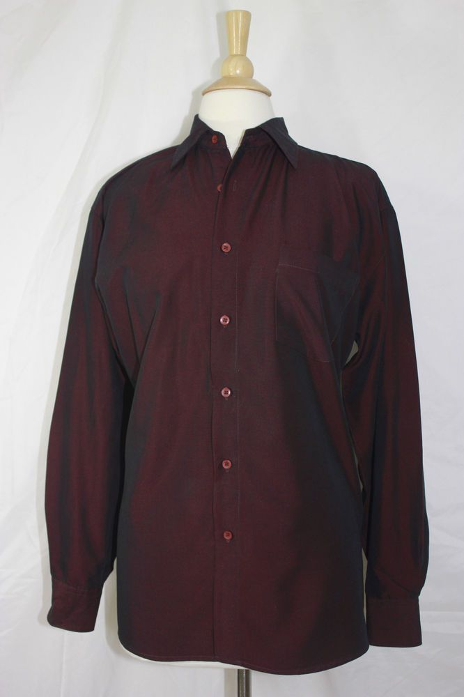 Lord Taylor Women S Wine Color Button Blouse Size Medium