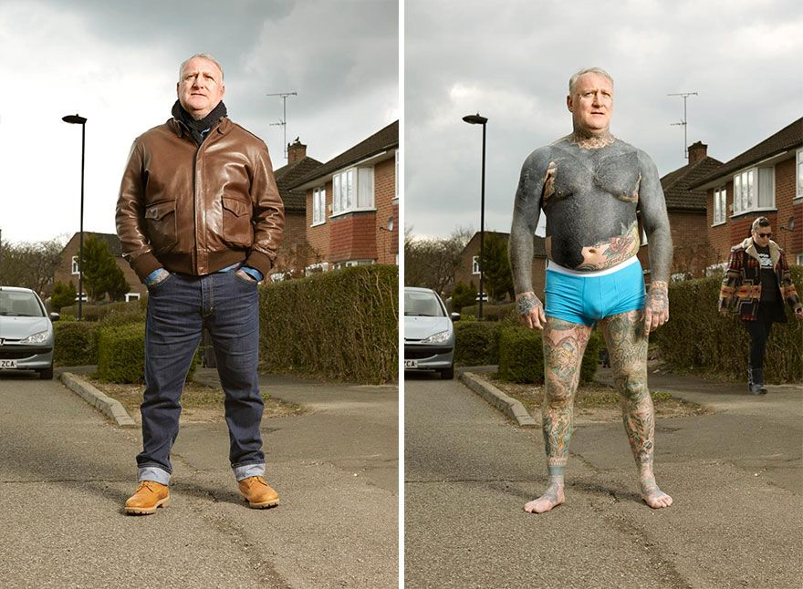 Photographer Reveals What Hides Under Tattooed People S Everyday Clothes