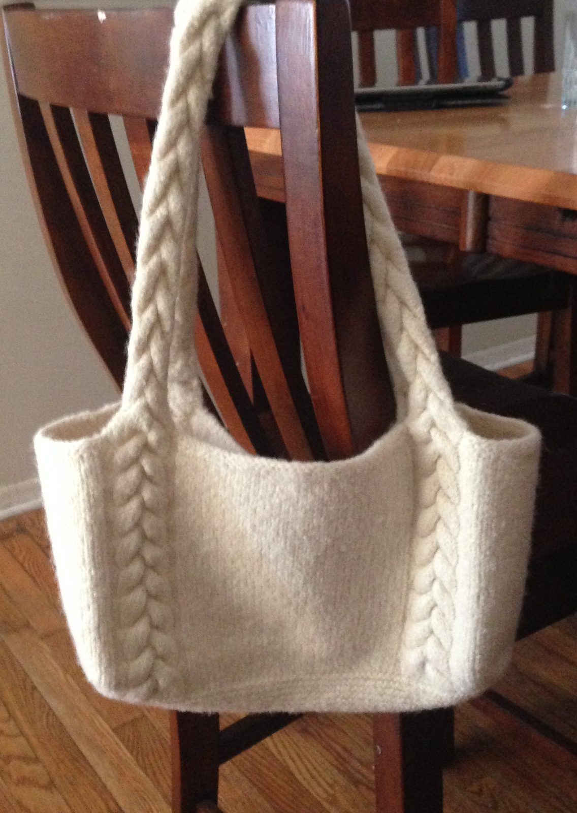 Free Knitting Pattern Braided Cable Handle Tote - This easy pattern is  available in three sizes. Amanda Silveira s pattern features braided cables  that ... 6610987cde47