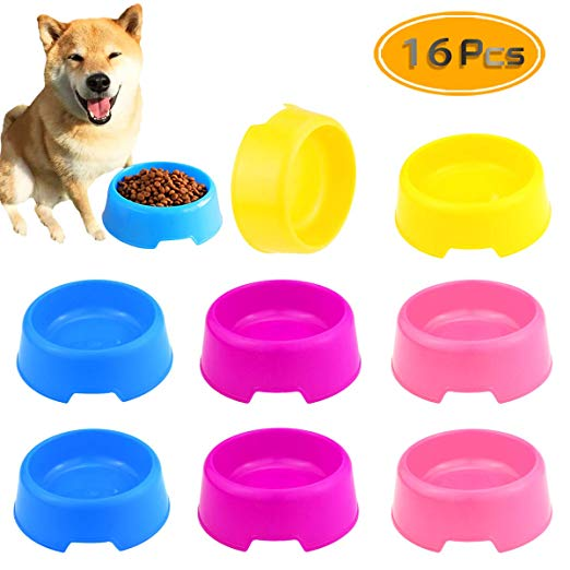 Amazon Com Bcpowr 16 Pcs Pet Plastic Bowls Dog And Cat Supply Plastic Food Feeding Water Dish Bowl Feeder Pet Su Cat Supplies Plastic Animals Plastic Bowls