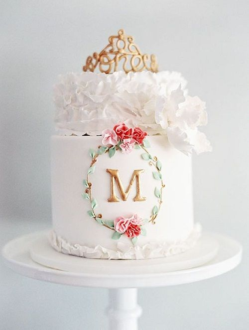 Elegant White Birthday Cakes For Girls