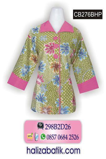 Baju batik model terbaru bahan katun primisima. Motif batik daun. Batik  wanita model lengan e2e9c6d485