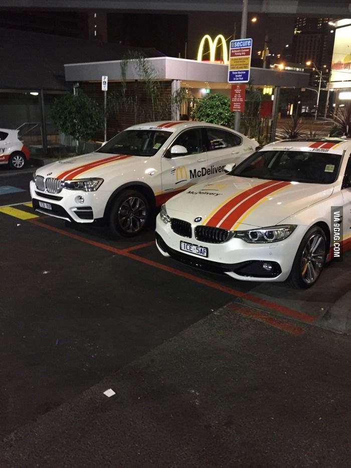 Da F**k! BMW for McDelivery?