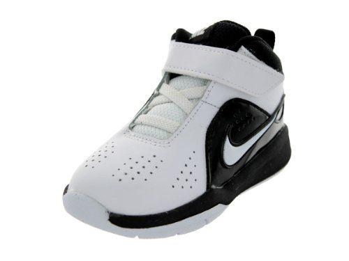 Nike Toddler Team Hustle D 6 (TD) White/White/Black Basketball Shoe