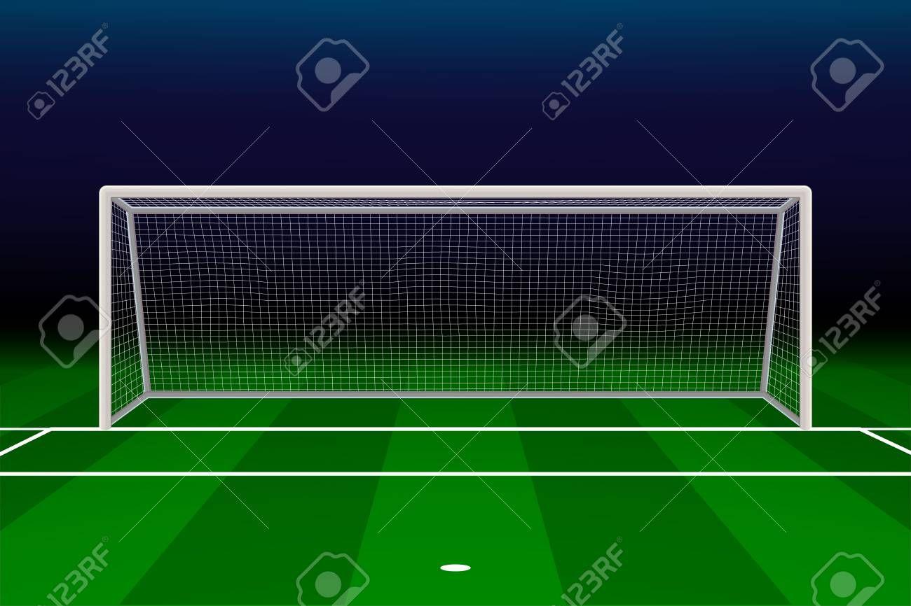 Realistic Football Goal On Soccer Field Vector Illustration Illustration Spon Goal Soccer Realistic Football Illustra Soccer Field Goals Football