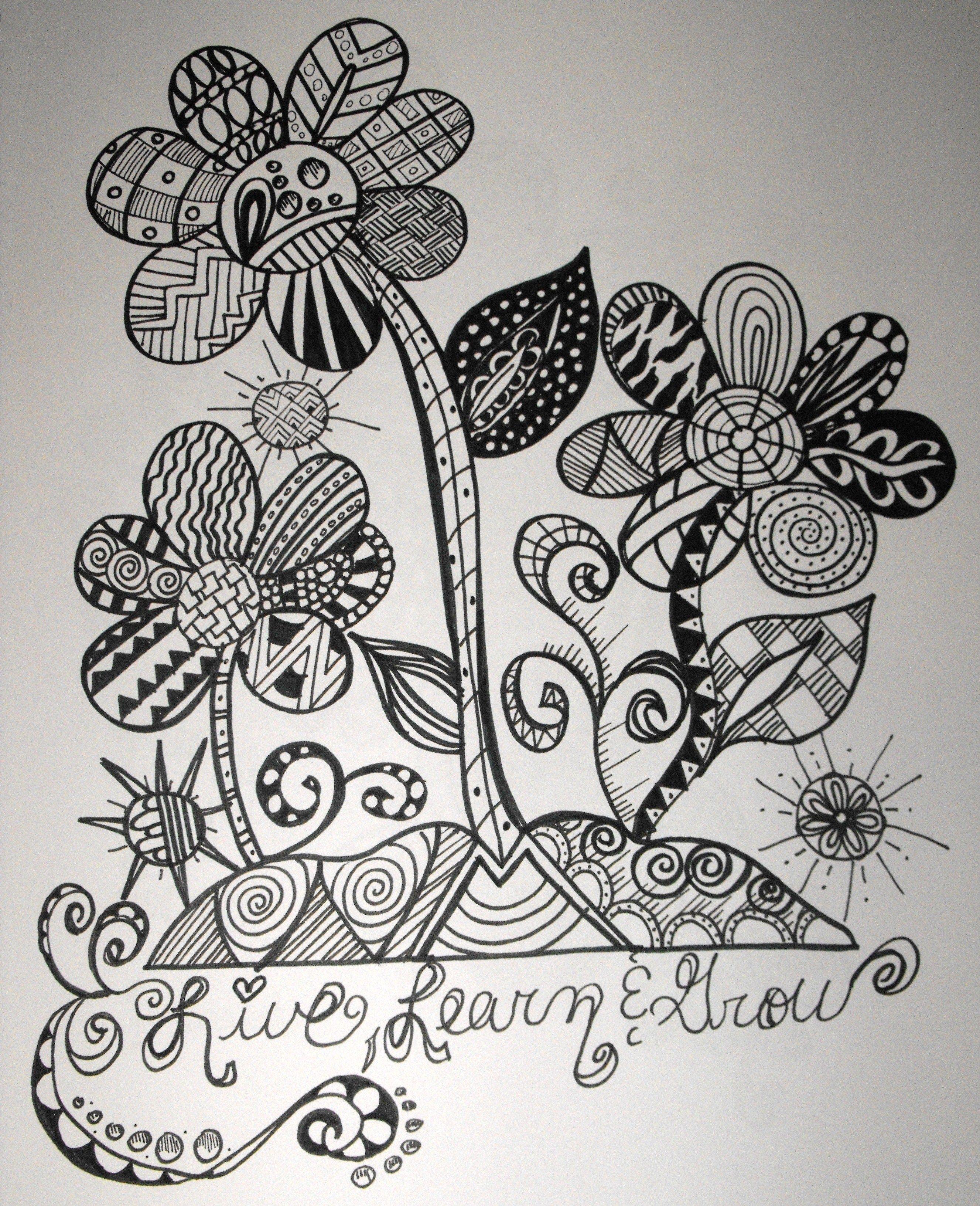 Zentangles Drawn Check Fb Leomaris Handicrafts Doodle Art