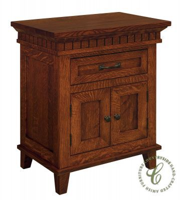 Inside the spacious cabinet of our Amish handcrafted Whitney Door Nightstand, place your favorite reading material, electronics and other must-haves.