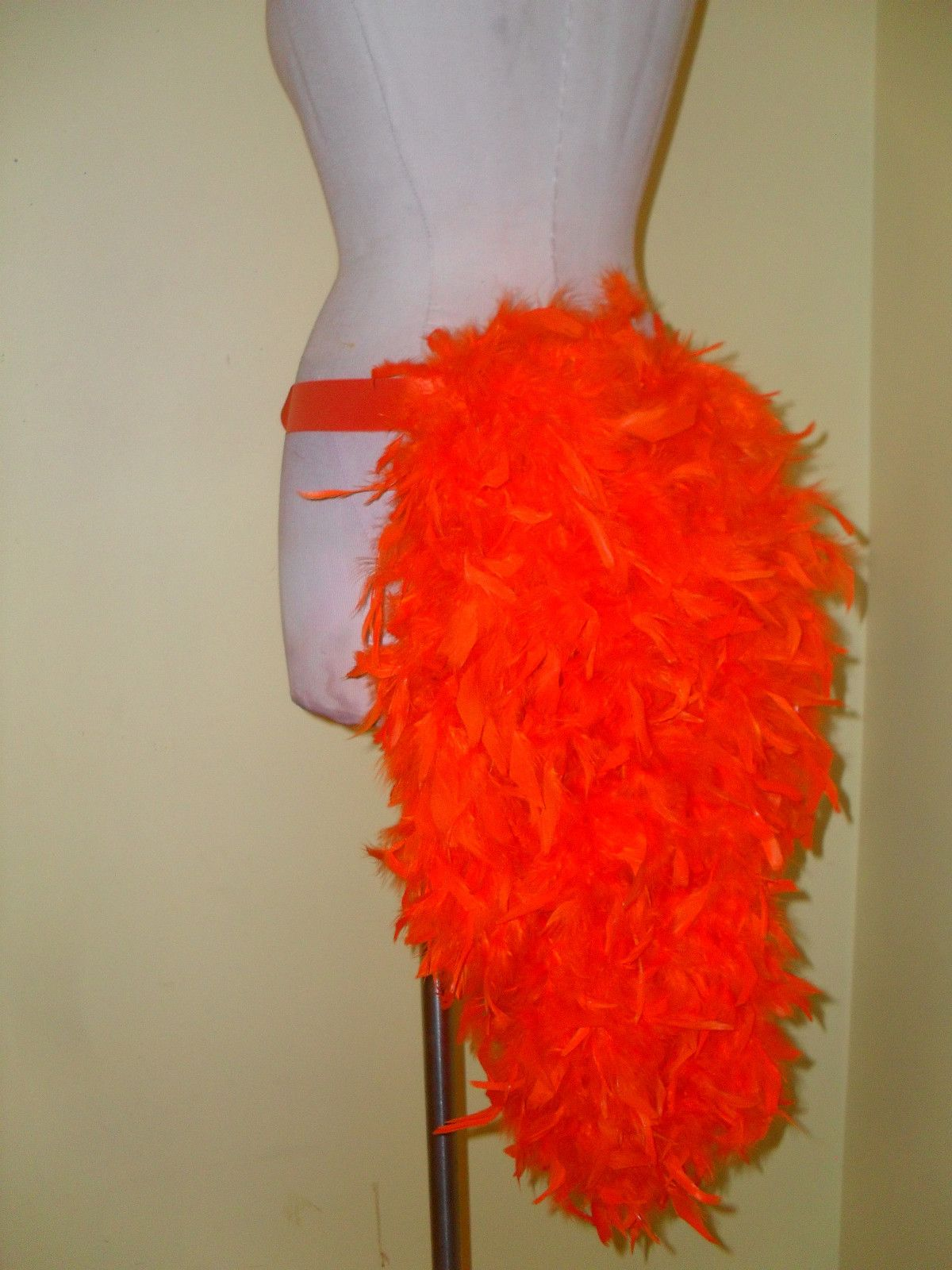 Fire Colors Thick Feather Tail Fan tail back cover Feather Bustle Boa tutu feather belt COSTUME SHOWGIRL BURLESQUE