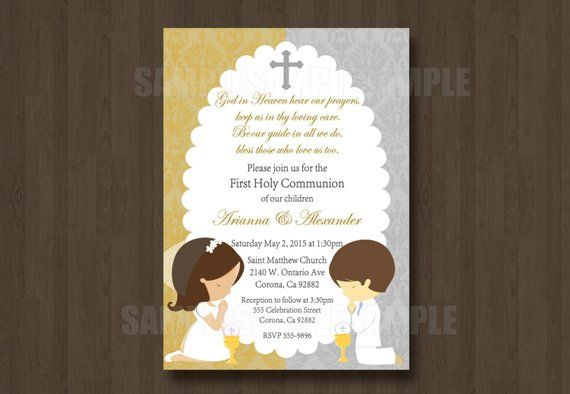 Pin By Etsy On Products Communion Communion Invitations Holy
