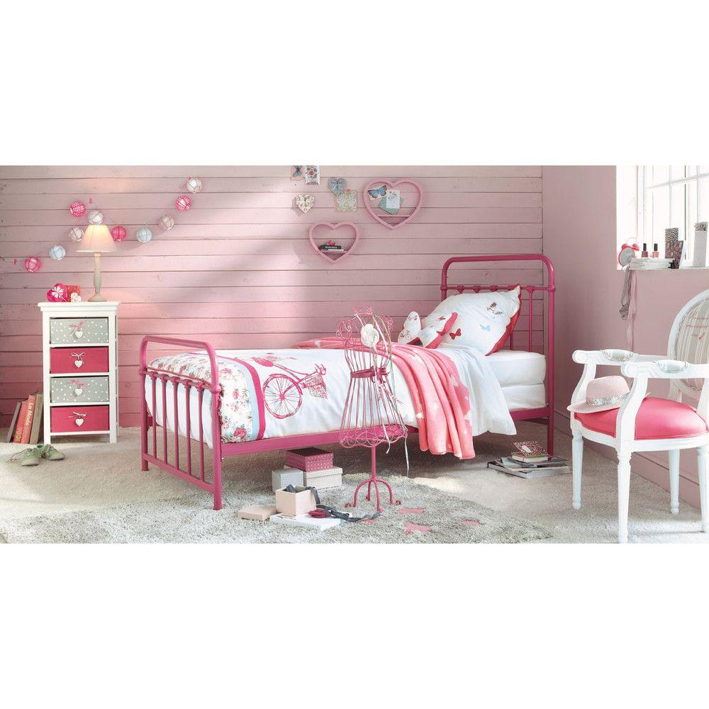 Cama 90 × 190 cm de metal rosa - Tonic | Deco | Pinterest | Muebles ...