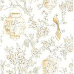 "<strong>Serenity 33' x 20.5"" Lanterns Wallpaper</strong> by Brewster Home Fashions"
