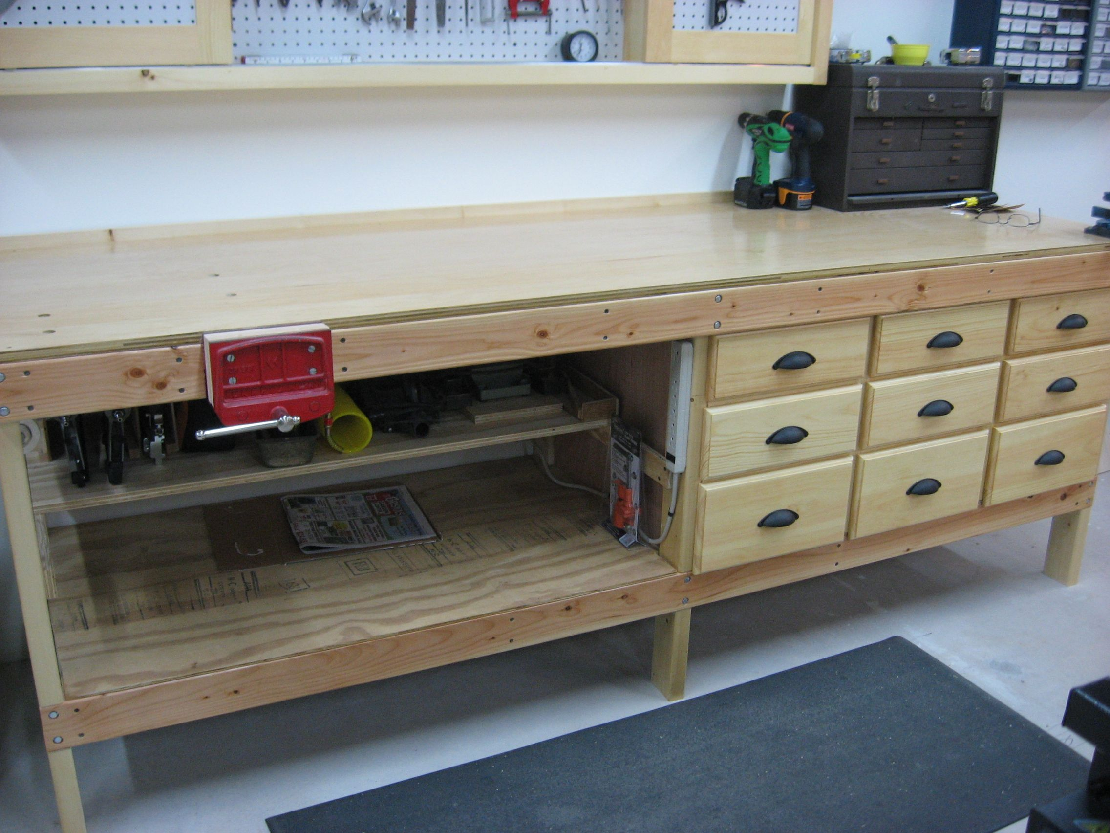 Workshop Cabinets Woodshop | Creekside Woodshop SketchUp Drawings ...
