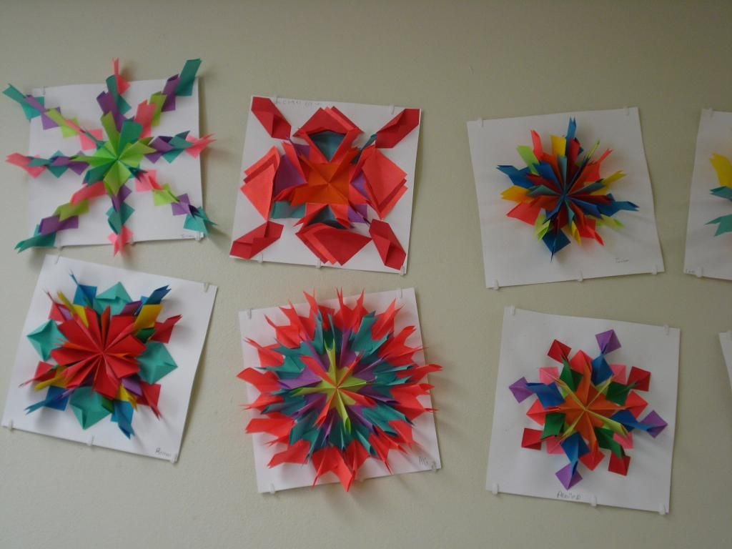 Amys Artsy Adventures 5th Grade Radial Relief Paper Designs Colored Copy