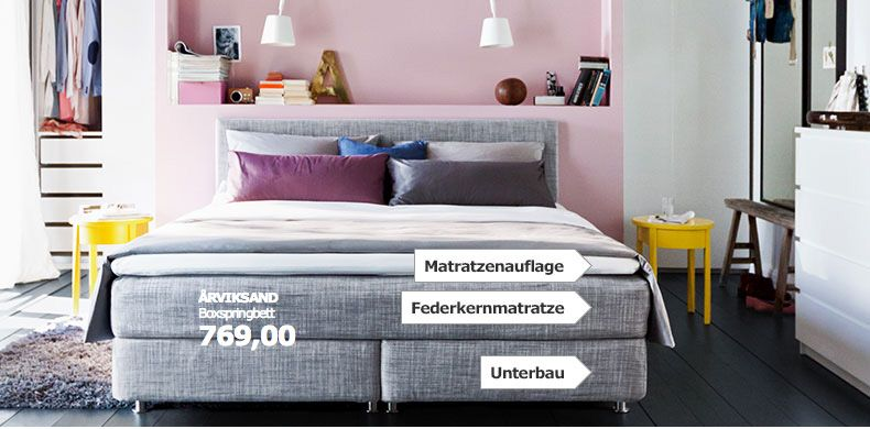 rviksand boxspringbett bei ikea home pinterest. Black Bedroom Furniture Sets. Home Design Ideas