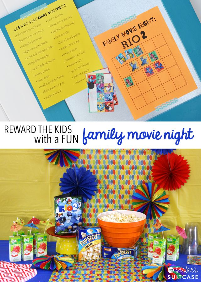 Reward Kids With A Family Movie Night: Printable Chart and Ideas to ...
