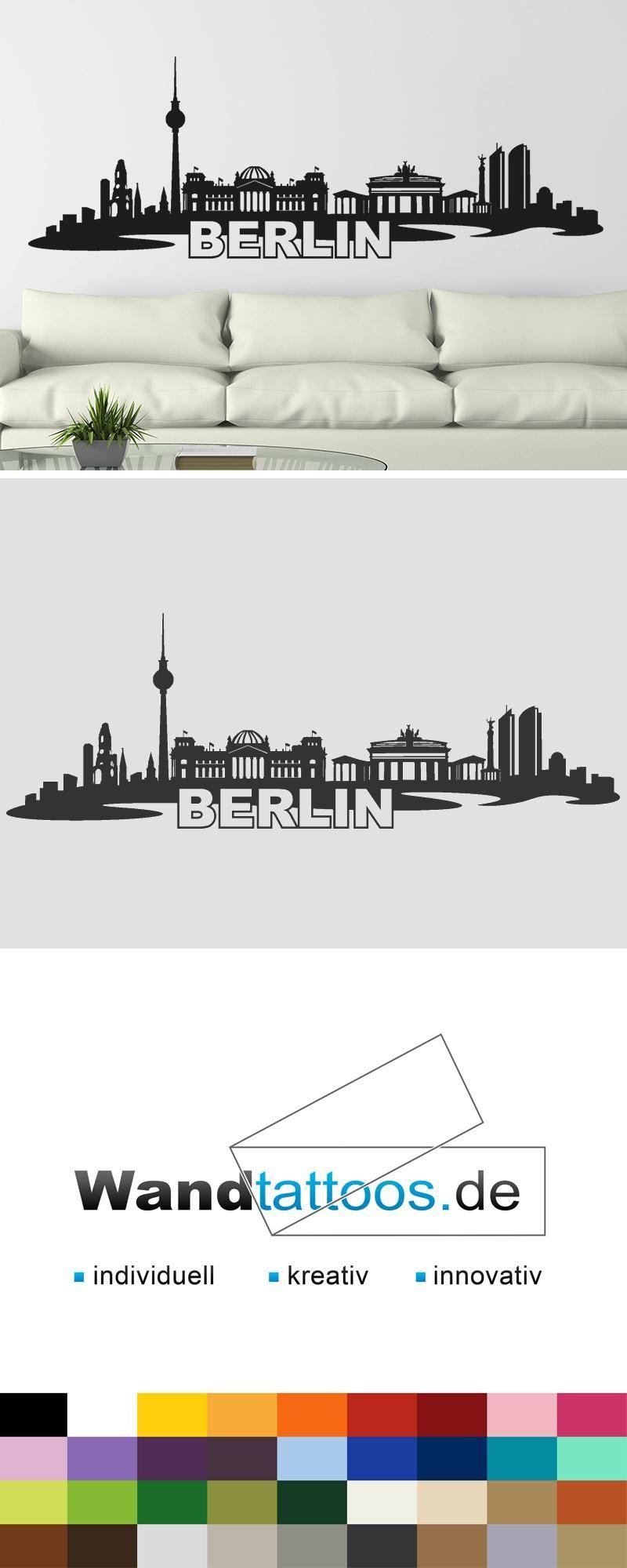 Großartig Wandtattoo Berlin Galerie Von Skyline Als Idee Zur Individuellen Wandgestaltung. Einfach