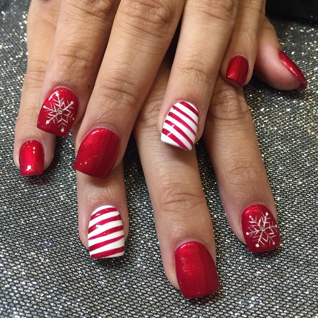 Perfect Holiday Nails ❄ ☃ by Lin❄️Nail Garden Porter Ranch ...