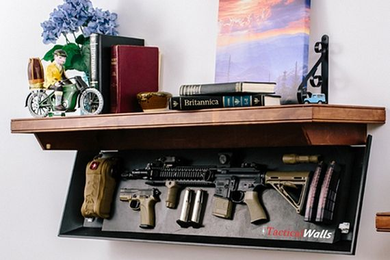Lovely How To Conceal Your Weapons   DIY Gun Safes | Weapons Clever Safety Storage  By Gun