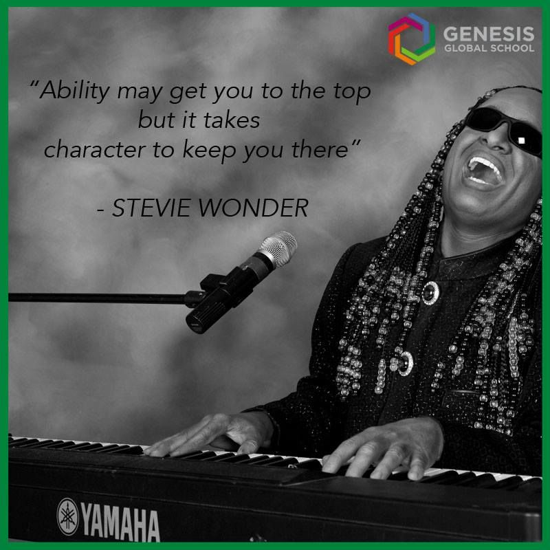 Being a blind musician, Stevie Wonder has made a mark on