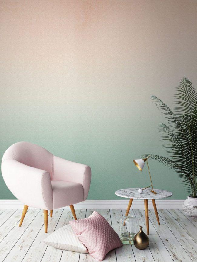 zweifarbige-wandgestaltung-ombre-wandfarbe-tapete-waende-kreativ