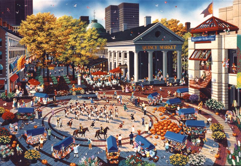 Quincy Market Is A Historic Building In Faneuil Hall Boston With S Peddler Carts And Food The Was Constructed 1826 Honor Of Mayor