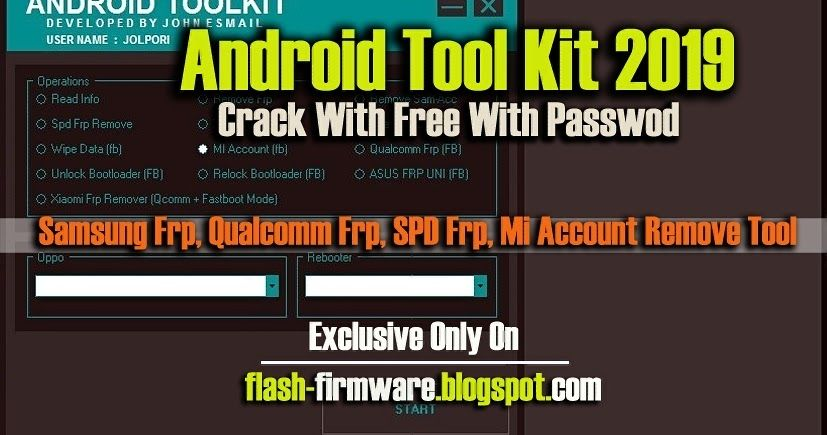 DownloadAndroid Tool Kit 2019 Feature: SPD FRP Remove Remove