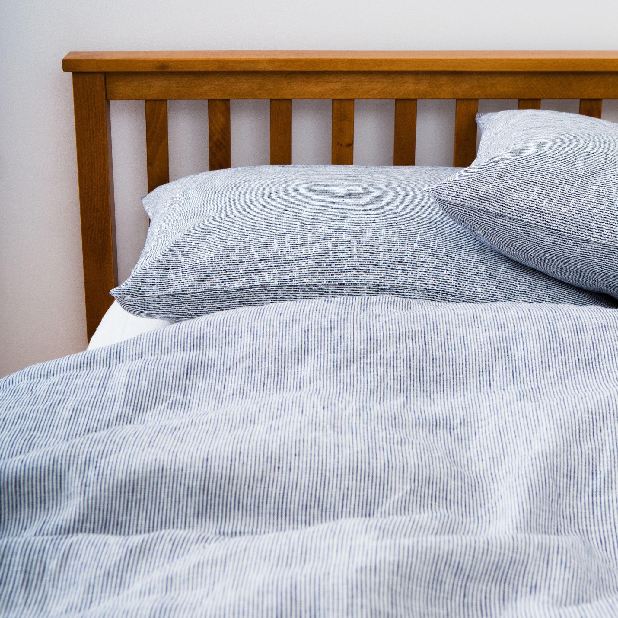 Linen Duvet Cover White Seersucker Linen Duvet Fog