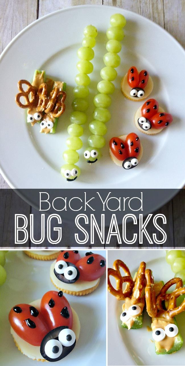 back yard bug snacks | kids crafts | snacks, healthy snacks, healthy