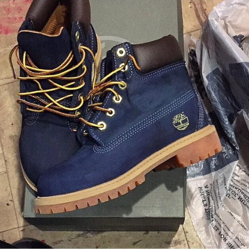 chaussure timberland bleue