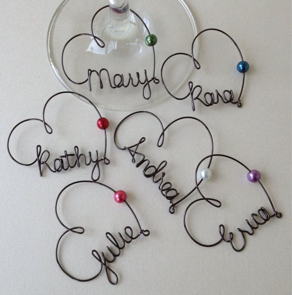 6 11 Wine Gl Charms Personalized Bridesmaid Bridal