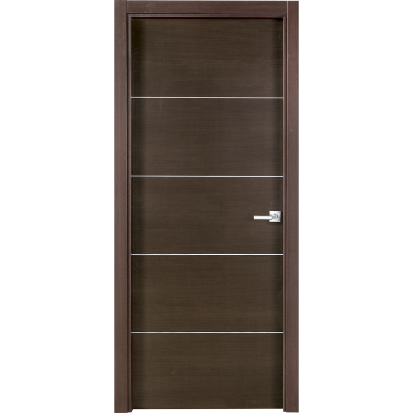 Puerta de madera con acabado wengu plw 5 puertas de for Puertas de madera interiores