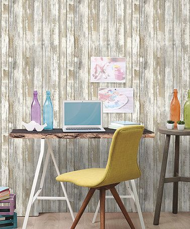 Look what I found on #zulily! Distressed Wood Peel & Stick Wall Decal #zulilyfinds