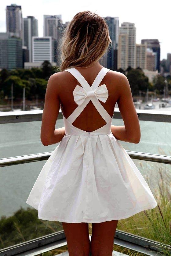 Tanned Skin & White Dress