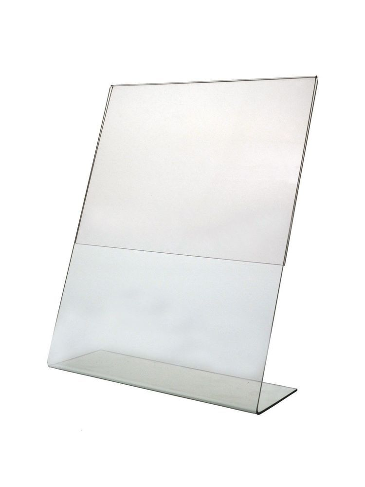 Clear Display Frame 85 X 11 Tilt Back Sign Notice Holder Stand