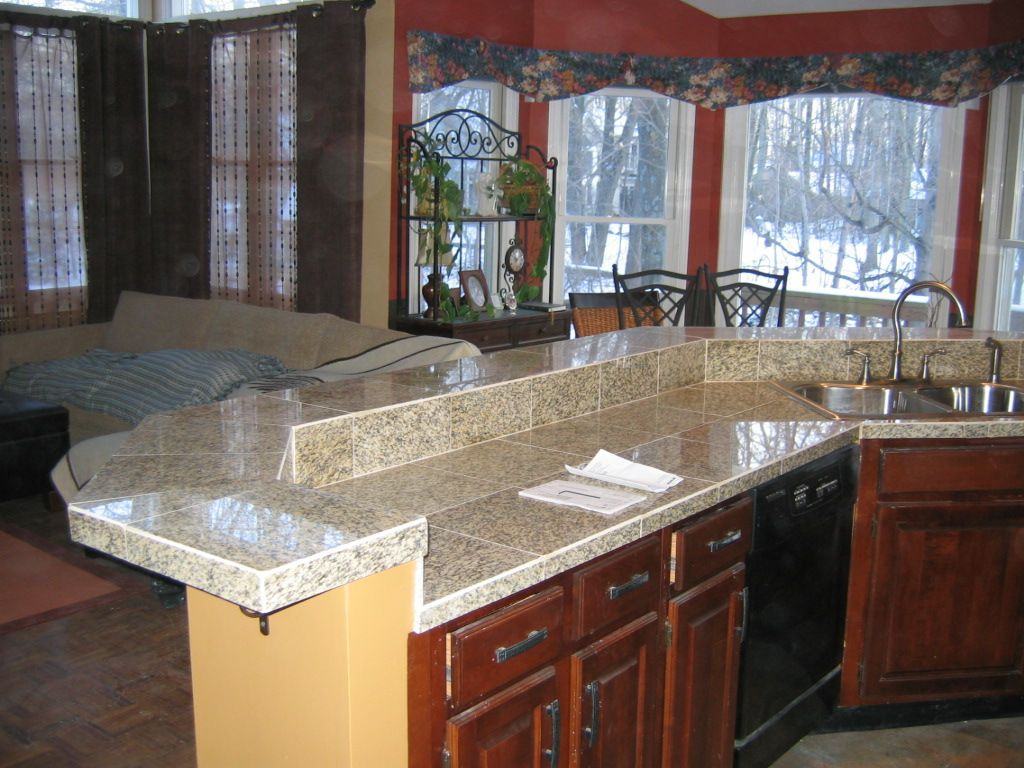 Granite tile countertops without grout lines home for Kitchen without tiles