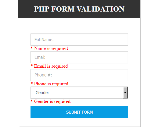 Server Side Form Validation Using Regular Expressions Regular Expression Expressions Form Css
