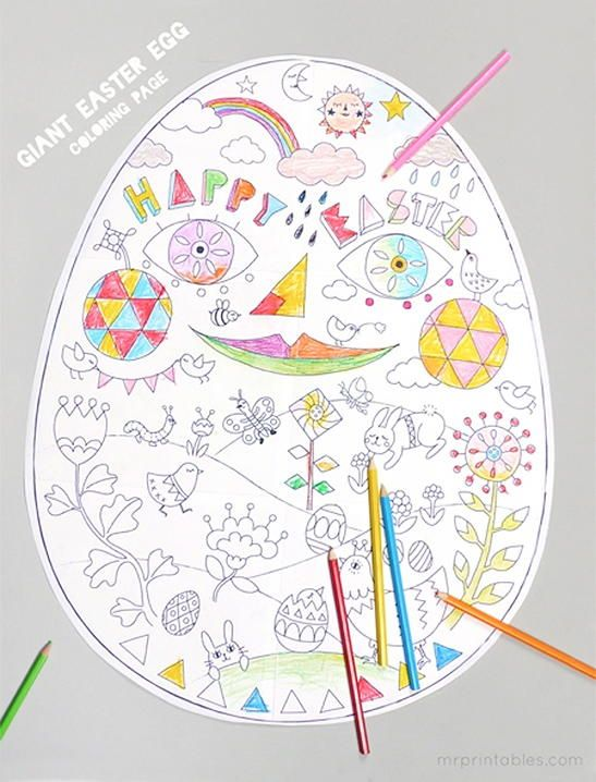 Giant Easter Egg Coloring Page Easter Coloring Pages Free Easter Coloring Pages Easter Egg Coloring Pages