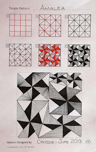 Amalea Chrissie Frampton Zentangle Patterns Tangle Patterns