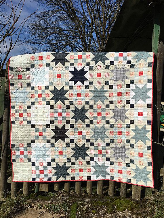 Checkered Star Quilt - Lap Size