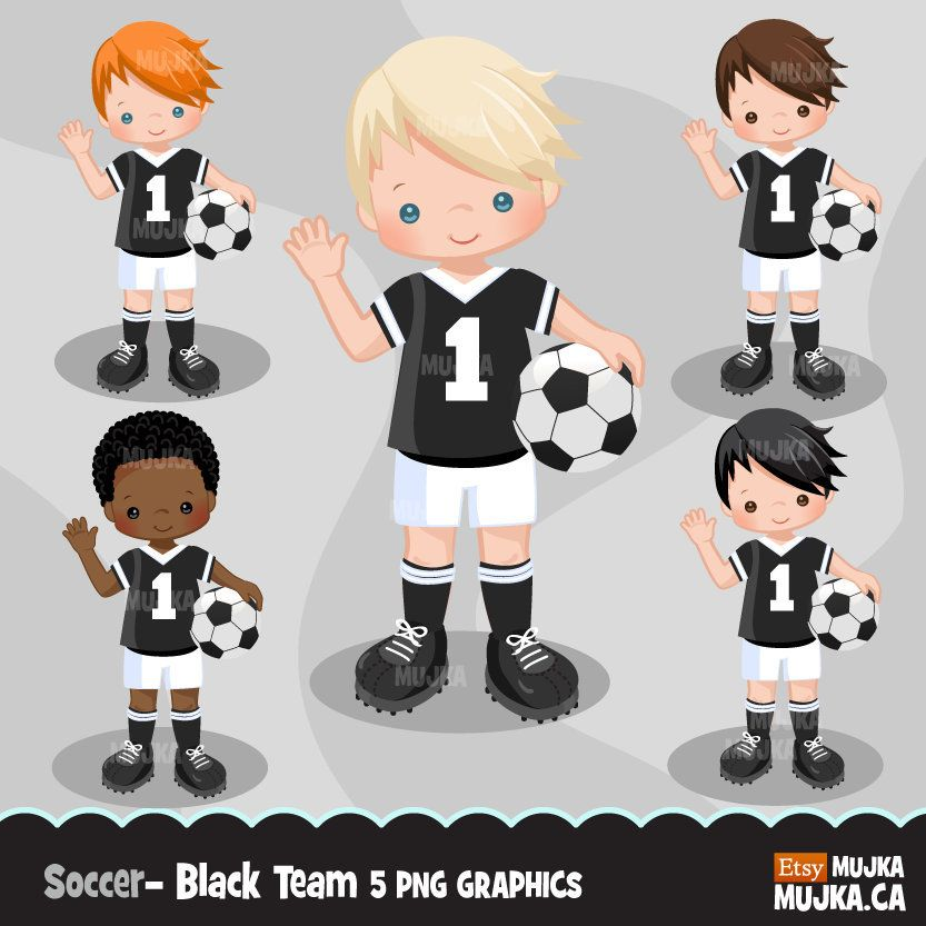 Soccer Clipart Sport Graphics Boys Soccer Player Characters Etsy Sports Graphics Soccer Boys Soccer Players